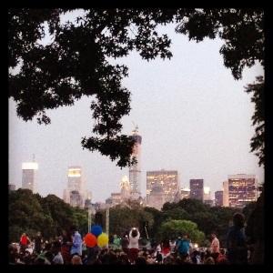 Dusk at Central Park