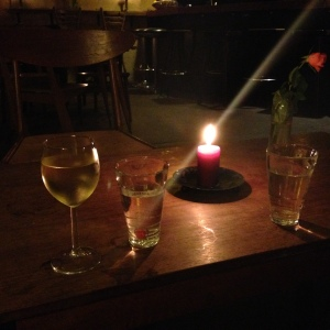 Late night at one of the cute local bars in Prenzlauer Berg