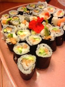 Salmon avocado rolls!