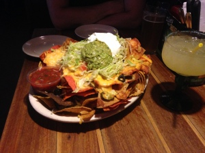Mmm nachos and margs...