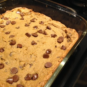 Secret chickpea blondies!