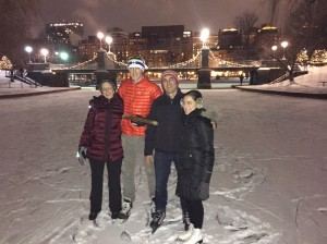 Ice skating with the fam
