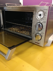 The toaster at my work, covered in gluten. Danger zone!